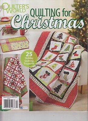 Quilter's World Quilting for Christmas 25 Holiday Quilting Treasures Dec 2017