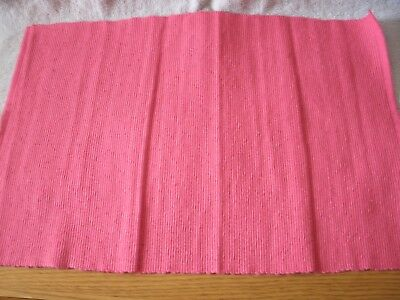 Set Of 4 Pink 13x19 Cotton Placemats