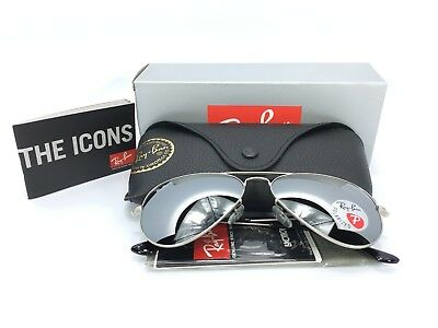 Ray-Ban Aviator RB3025 019/W3 Silver Matted Frame Polarized Mirror Lens 58mm