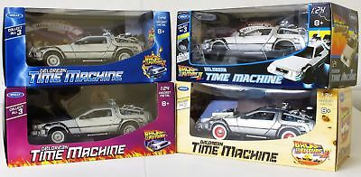 Welly TY1234 Back to the Future BTTF Set of 4 Delorean 1:24 Diecast Model Cars