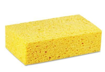 Boardwalk Large Cellulose Sponges, Heavy-Duty 4 3/10 x 7 4/5, Yellow, (24 Count)