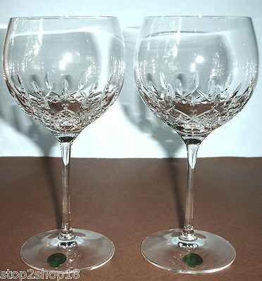 Waterford Lismore Essence Set of 2 Balloon Wine Glasses Made/Germany #143784 NEW