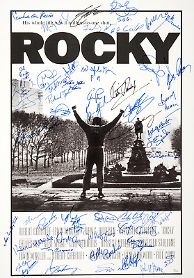 Rocky 1 - 4 Signed X 4 Boxing Movie Posters Laminated 11 X 8 Inch Autograph