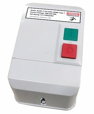 Elimia ALMS 17-25-230 3 or 5 HP 1PH 230V Magnetic Motor Starter Nema 1 UL Listed