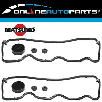 2 Rocker Tappet Cover Gasket Sets suits Pajero NH NJ NK V6 6G72 3.0L 1991~1997