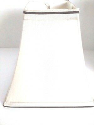 """Lamp Shades Square Small Fabric Shade Beige Table Light 8.5"""""""