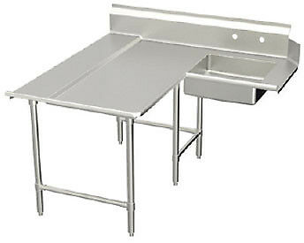 "Elkay Spokane Spec-Line L- Soiled Dishtable 72"" - SLDDTLE-72-L"