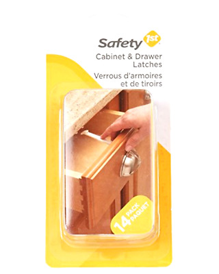 Safety 1st 14 Pack Wide Grip Cabinet Child Proof Baby Locks & Drawer Latches .