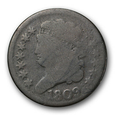 1809 Circle in 0 Classic Head Half Cent Good G Rotated Reverse #8342