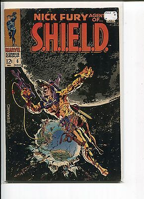 Nick Fury  Agent Of Shield 6 Vf  Steranko Cover    1968
