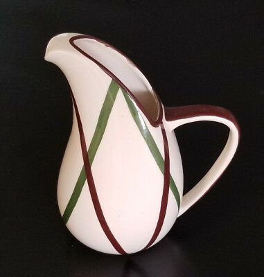 "Vernonware Under Glaze Hand Painted ""Bel-Air"" 1950's Large Pitcher: Excellent"