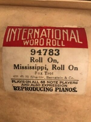 International Word Roll Player Piano 94783 Roll On Mississippi, Roll On. Foxtrot