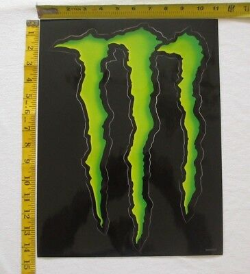 Monster Energy Logo Sticker Decal Sponsor Sheets, Qty 20 Decals, FREE SHIPPING!