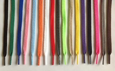 """Flat Athletic Shoelaces 5/16"""" Width 36"""" 45"""" 54"""" Lengths 15 Colors to Choose From"""