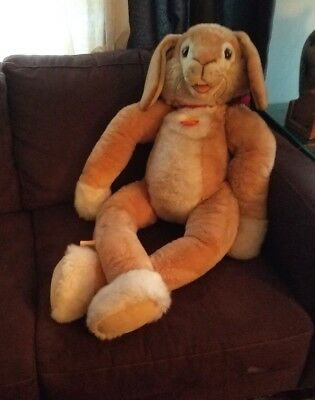 "Steiff Lulac  Bunny Rabbit 40"" Tall"