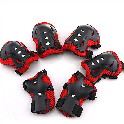 6x Kids Roller Ski/Cycling Protective Gear Pad Knee Elbow Wrist Safe Protector