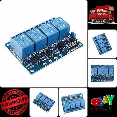 4 Channel Relay Module 5 Volts DC With Optocoupler For Arduino Uno R3 Mega 256