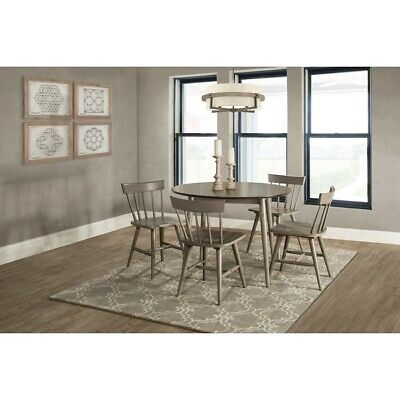 Hillsdale Mayson Five Piece Dining Set w/Spindle Back Chairs, Gray - 4552DT5C3
