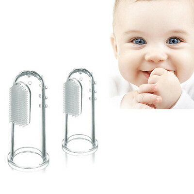 4pcs Soft Silicone Baby Finger Toothbrush Dental Teeth Cleaning Oral Massager OZ