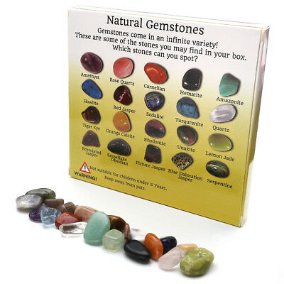20x Crystal Chakra Amethyst Stone Gemstone Reiki Polished Healing Collection Set
