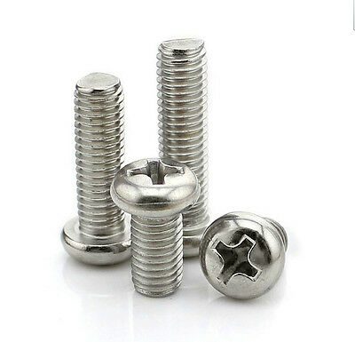 304 Stainless Round Head Screws Bolts M4*4/5/6/7/8/10/12/16/20/30/40/50/60/-100