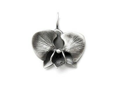 UNIQUE PENDANT STERLING SILVER 925 HAND MADE ARTISAN JEWELRY ORCHID FLOWER