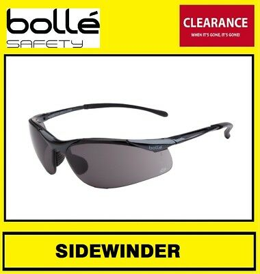 Bolle Sidewinder Gloss Dark Gunmetal Frame Smoke Lens Work Glass Glasses  1 Pair