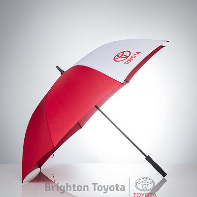 New Official Toyota Merchandise Golf Umbrella RED/WHITE  Part TMTOY013GUR