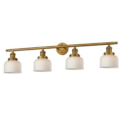 Innovations 4 Light Large Bell Bathroom Fixture in Brushed Brass - 215-BB-G71