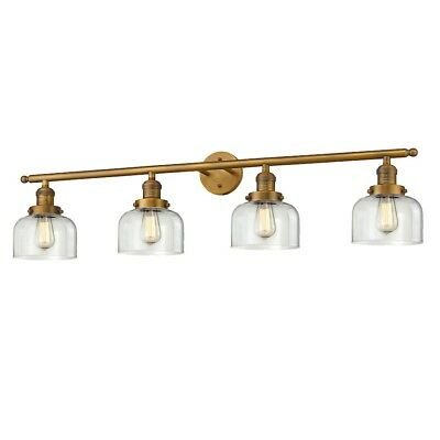 Innovations 4 Light Large Bell Bathroom Fixture in Brushed Brass - 215-BB-G72