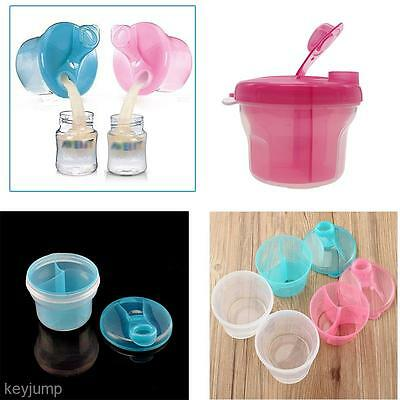 3 Layers Big Capacity Rotatable Baby Infant Feeding Milk Powder Snack Dispenser
