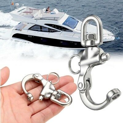 Perry 316 Stainless Steel Quick Release Boat Anchor Chain Eye Swivel Snap Hook.