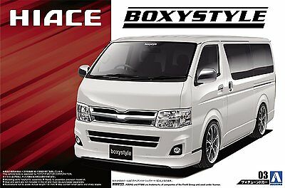 Aoshima 50958 New 1/24 Boxystyle TRH200V Toyota HIACE SUPER GL 2010 from Japan