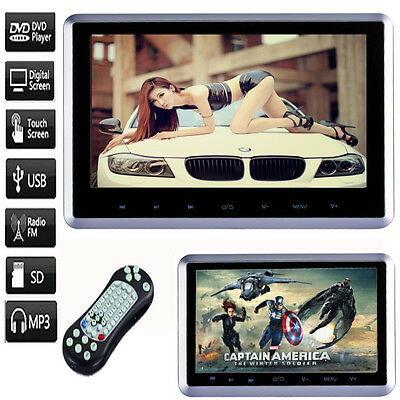 "10 ""HD Digital LCD Touchscreen Auto Kopflehne Monitor DVD /USB /SD Player IR /FM"