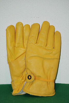 vintage gloves ski winter true leather vera pelle padded no gore tex