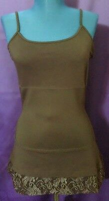 LOGO by Lori Goldstein Fabz Layering Cami with Lace Trim~A218595