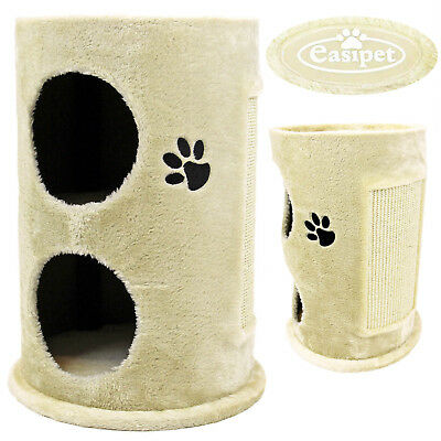 Cat Kitten Scratcher 50cm Scratching Barrel Post Tree Activity Centre Tower Den
