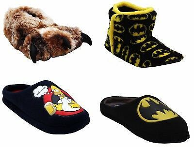 Mens Novelty Claw Mule Boots Batman Character Warm Christmas Gift Mule Slippers