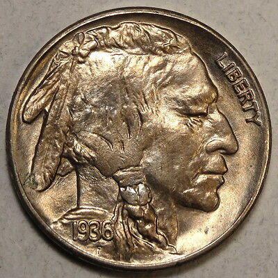 1936-S Buffalo Nickel, GEM Uncirculated, Bright BU Coin  0411-26
