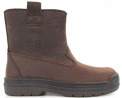 Junior Childrens Girls Boys Unisex Timberland Leather Brown Classic Boots Size