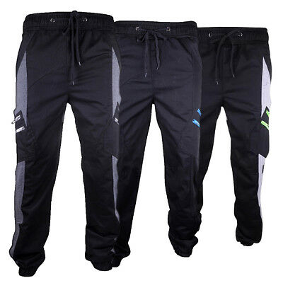 Boys Location Fleece Bottoms Tracksuit Track Pants Cuffed Joggers Pant Junior PE