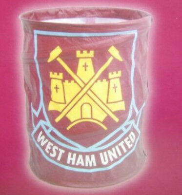West Ham United Concertina Pop Up Bin Tidy Novelty Decor Storage Solution
