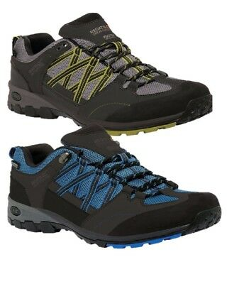 Regatta Mens Samaris Low Walking Trail Shoe Oxford Blue Grey Spruce Rmf499