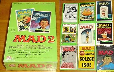 MAD Magazine Series 2 - Sealed Box of Trading Cards by Lime Rock - 1992