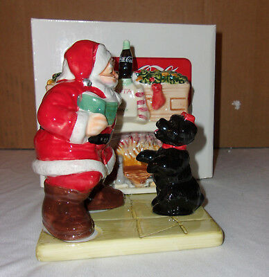Coca Cola Holiday Portraits Salt and Pepper Shakers- MIB