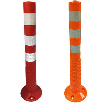 Parking Safety Traffic Spring Posts - Orange & Red Options - Electriduct