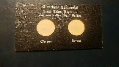 1936 Cleveland Great Lakes Commemorative Half $ Original 2 Coin Leather Holder