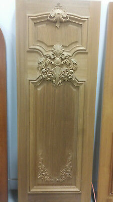 Carved Mahogany French Louis XV Style (19th Century style) Carved Wood Door.