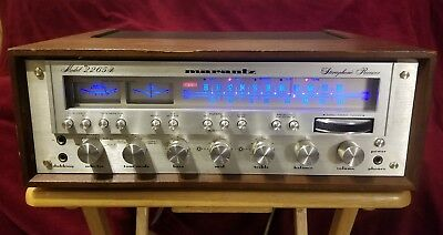 Marantz 2265B Receiver Amplifier Led upgraded Works Great Walnut Case