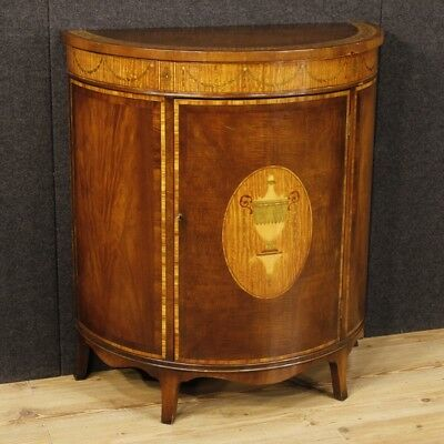 Belief in halfmoon shaped furniture english dresser inlaid wood antique style